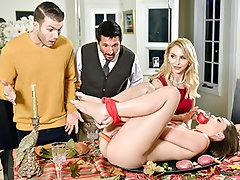 Aften munches her draped stepdad's johnson, and Alix gobbles down her stepsons massive dick. Then, they all pamper in some super hot snatch penetration! This family friendly intercourse has everyone experiencing additional thankful.