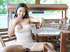 She whips his tree trunk dick out of his pants and jacks him until she is ready to get penetrated. Then he slams her cock-squeezing Japanese vag until she is nutting stiffer than she ever did with her boyfriend. Seems like a match made in heaven!
