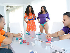 Demi Sutra and her BFF Julz Gotti have a plenty of in common. They are both sexy latinas...with some bankrupt ass stepdads. But not too bankrupt to play poker, apparently.  Their stepfathers determine to dual down the ante, plopping both their wallets dow