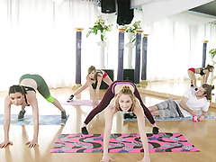 Victoria Gracen was recording a yoga sesh for her website. Her schoolgirls today included Alex Blake, Maddie Winters, and Brick Danger. The class went as smooth as usual, except for Brick. Instead of his usual detox tea he was gulping a beer and staring o