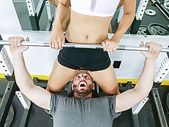 Amethyst Banks is a scorching private trainer who does not give a ravage about how in form you think you are. Mike thought he was ripped, but Amethyst pleaded to differ and put him through an intense workout. As a cap to their exercise she gave him a whif
