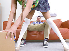 Sami Parker's forgetful step-dad was late to pick her up from damsel scouts. She waited there for nearly an hour in the steamy son. She wasn't too upset, but her step-dad sensed like he had to make it up to her. She was looking sex-positive to help sell c