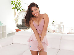 The exxxtra pequena Melody Diminutive was caught on the streets taking selfies of her red-hot latina body. Our producer was passing by and suggested to take some pro shots of her. They go back to his place and begin shooting! Her clad shots were superb bu