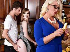 Dolly partied too rock-hard and her Beau had to carry her home. Her step mummy Alura noticed what a lovely youthful fellow he was, and determined to thank him with a BJ. This went on for days, and eventually Dolly caught on, and joined in.
